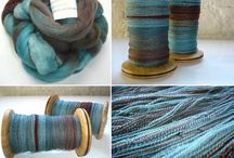 Tweedside: Dying & Spinning Artisan Yarns from luxurious Fleece & Fiber for knitting , weaving & crochet. / Luxurious fleece & fiber that is dyed and spun into hand crafted artisan yarns from wool with silk, alpaca, Egyptian cotton, mohair, vicuña, cashmere, etc.   / by Debra Drake