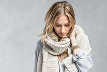 hair { scarf bob } / The easiest way to fake a haircut this season is to tuck your hair into your scarf/sweater/jacket!