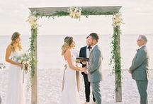 Beach Wedding Inspiration / Beach wedding style, destination wedding ideas, wedding inspiration from invitations to cakes, dresses and decor ideas that would be great for a beach or destination wedding.