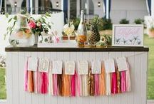 Tropical Wedding Ideas / Beach wedding inspiration, destination wedding ideas, tropical wedding style - all the palm trees, flamingos and pineapples over here :)