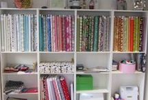 Adaliza loves her Sewing Studio / fabric storage