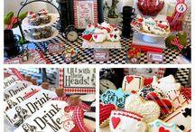 "Alice in wonderland party / ""One""derland themed first birthday party ideas"