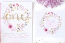 Floral girl first birthday ideas