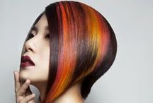 Multi-colored hair / We're spinning through space, so why be normal..? :)