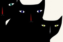 chat noir / for the love of black cats / by Kathleen Foley Boudreaux
