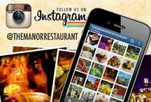 Be Social - Come Follow Us / Communicate, collaborate, and keep in the know about news, events and promotions at The Manor Restaurant (www.themanorrestaurant.com) -- Follow us on our other social media outlets and share in the conversation.