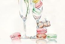 Champagne & Macarons / Champagne and macarons every day