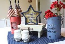 Merica | Patriotic | AMERICA! / America the beautiful! Patriotic ideas, DIY, crafts and decorating tips for memorial day, fourth of july or any American Holiday or celebration.