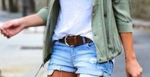 SUMMER STYLE / Flowy linen, lace-up Espadrilles, panama hats, denim shorts. Boho beach style... summer fashion inspiration!