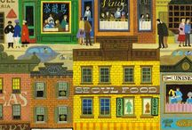 city / illustrations of city scenes