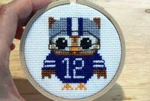 Hootie Hall of Fame / Are you a big fan of our cross stitch Hooties? Send us a picture of your finished stitch project and get your Hootie included in the Hall of Fame! / by Pinoy Stitch