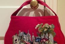 Paris needlepoint handbag / I had to try and do one on my own.