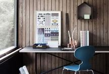 Workspace / Organizing and ideas for an inspiring studio space.
