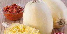 Spaghetti Squash / A type of Winter Squash (which also includes Acorn, Butternut and Delicata Squash)