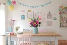 Pretty Pastels for Airy Homes / Gentle colour and sugary sweet tones