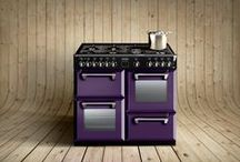 Purple ideas and range cookers / Purple is becoming one of the most popular kitchen colours in recent year. People are brave with their colour choices in moderns kitchen. Our purple board explores some bold ieads.