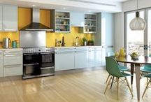 Kitchen diner ideas / Modern living just suits kitchen diners. You can be cooking whilst the children do their homework.