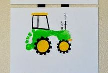 Printing Art Projects / Handprints. Footprints. Printmaking. / by Kids Play Box