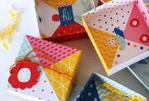 wrap surprise / gift box, tags, gift wraps, envelopes and other creative packaging