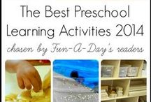 Preschool Ideas / Projects - art, play, sensory, craft ideas for preschoolers