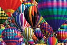 Hot Air Balloons / by PaperCraftLady on Etsy