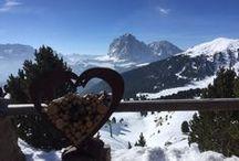 Winterlandschaften Val Gardena / Es geht um die Winterlandschaft in Südtirol (Val Gardena ).