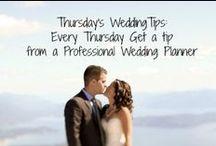 Thursday's Wedding Tip / Every Thursday I provide a little tip to make your wedding planning easier