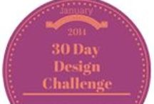 30 Day Design Challenge / Every Day from 1/1/14-1/31/14 find a new design board around a specific wedding theme!
