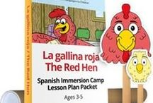 """The Red Hen - Magic Worlds / Help children learn a foreign language with Magic WorldsTM 2 The Little Red Hen (ages 3-5).  www.analomba.com  Long before children are interested in other countries and cultures, they are fascinated with imaginary worlds. What kid doesn't want to """"study abroad"""" in Oz or a faraway forest? Well now they can, with our Magic WorldsTM language immersion curriculum and products! Let Magic WorldsTM be their first immersion trip destination - without leaving your classroom or home!   / by Ana Lomba Early Languages LLC"""