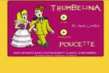 """Thumbelina - Magic Worlds / Help children learn a foreign language with Magic WorldsTM 2 Thumbelina (ages 3-5).  www.analomba.com  Long before children are interested in other countries and cultures, they are fascinated with imaginary worlds. What kid doesn't want to """"study abroad"""" in Oz or a faraway forest? Well now they can, with our Magic WorldsTM language immersion curriculum and products! Let Magic WorldsTM be their first immersion trip destination - without leaving your classroom or home!   / by Ana Lomba Early Languages LLC"""