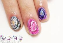 """GEM STONE NAILS / gemstone inspired nails! including nail art from my """"GET STONED"""" Series / by BASECOATTOPCOAT"""