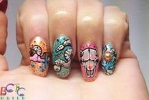 Desert Western Nails / One of my favorite inspos. Desert + Cactus + Palms + Pyramids + canyons + etc. +etc. / by BASECOATTOPCOAT