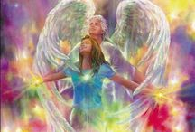 Angels / Angels sail thru our lives like ships of light visiting us thru the portals of our hearts. Angels, angel, angelic, heavenly, Heaven, Arch Angels, Archangels / by Spirit Healer