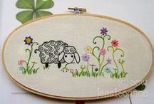embroidery / embroidery, pattern, design