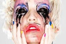 Second Language / A technicolor courtesan in makeup.