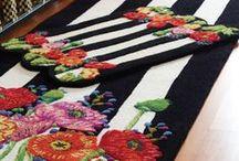 Decor stripes, checks dots, harlequin i.e. pink, black or white