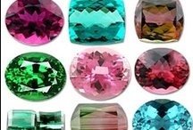 Gems ★Gods ★Gift / A gemstone or gem (also called a precious or semi-precious stone, a fine gem, or jewel) is a piece of mineral, which, in cut and polished form, is used to make jewelry or other adornments. However certain rocks (such as lapis lazuli) and organic materials (such as amber or jet) are not minerals, but are still used for jewelry, and are therefore often considered to be gemstones as well. Most gemstones are hard, but some soft minerals are used in jewelry because of their luster and aesthetic value