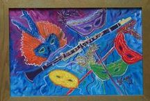 My Paintings-Music / Impressionist Paintings of Musical Instrument Collections