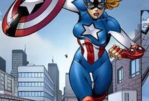 Marvel: American Dream / Shannon Carter is the daughter of a typical mid-western family. Her father was a small town police officer, her mother was a school teacher, and her aunt is Peggy Carter. She joins Avengers Next.