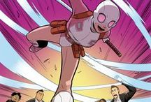 Marvel: Gwenpool / She looks like Gwen Stacy and she's crazy like Deadpool. She is in fact Gwen Poole, aka Gwenpool. But she seems to have no ties with either of them!