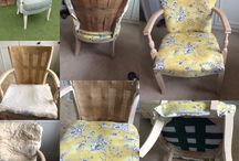 Reupholstered Chair by Claire / Stripped & reupholstered