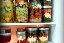 RESTARAUNT FREEZER AND MASON JAR MEALS / by Sheila Juarez