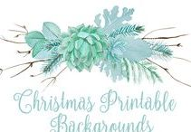 Christmas Printable Backgrounds / Christmas digital printable backgrounds ~ great for making your own Christmas banners, wrapping paper, scrap-booking, Christmas crafts, Christmas cards, Christmas invitations, Christmas posters, Christmas table mats and the list goes on and on...LET'S BE CREATIVE!!!