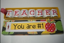 Teacher Gift Ideas / A place for gathering clever teacher gift ideas.  / by Shannon Fackler