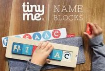 Tinyme Name Blocks Puzzles / The brand new wooden name block puzzle for kids. Cute, fun and super educational name block puzzles - personalised to your little one's name! Now available at tinyme.com