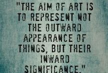 Art: Quotes / Citations / Quotations by artists about art and creativity