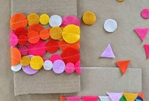 Cute Craft Ideas / A whole lot of fun craft ideas for kids using all sorts of different materials. Great for rainy days and weekends when the kids need to keep their little fingers busy!