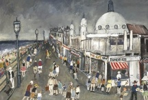 Malcolm Teasdale / Malcolm Teasdale is a Fine Arts Artist. His subjects are mainly old industrial scenes, colliery towns and villages and representations of the social life of workers in the north-east during the1940's and 50's.They are impressionist in style focusing on mood and the atmosphere of the time. They also, as far as possible, are created with some degree of historical accuracy using archival material so that a bus, a poster, a packet of cigarettes, a football strip are authentic and true to that era.