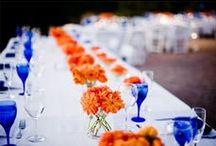 Blue & Orange Asian Wedding Inspiration