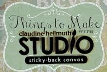 Studio Sticky Back Canvas / Creative Projects and technique tutorials using Claudine Helmuth Studio Sticky-back canvas